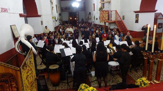 Divino salvador concierto. Banda Sinfónica Reina de Boyacá del Municipio de Monguí_2 Alcaldía Iza