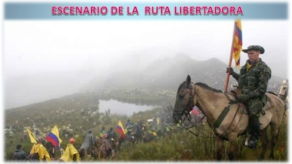 Escenario de la ruta libertadora Alcaldía de socotá