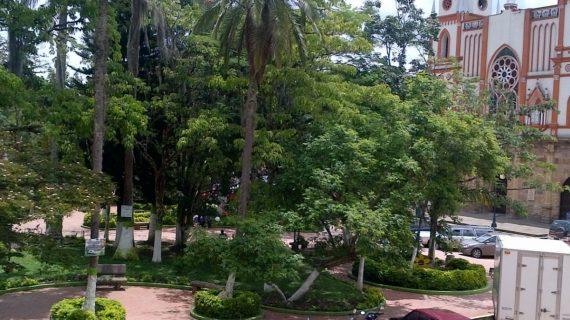 Moniquirá Parque Simón Bolívar. Página Alcaldía