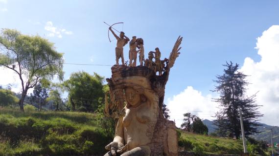 6. MONUMENTO A LA DIGNIDAD U'WA. Alcaldia, 2017.