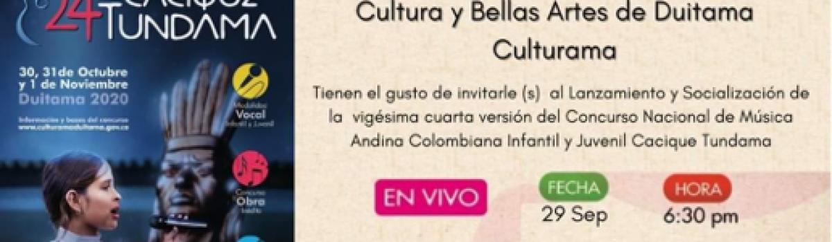 """24° CONCURSO NACIONAL DE MÚSICA ANDINA COLOMBIANA INFANTIL Y JUVENIL """"CACIQUE TUNDAMA"""