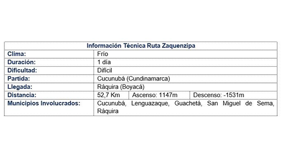 Ruta Zaquencipa